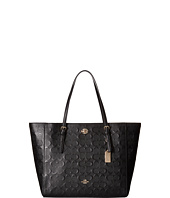COACH - Embossed Signature Leather Turnlock Tote