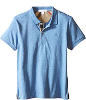 Burberry Kids - Short Sleeve Polo Shirt with Check Placket (Little Kids/Big Kids)