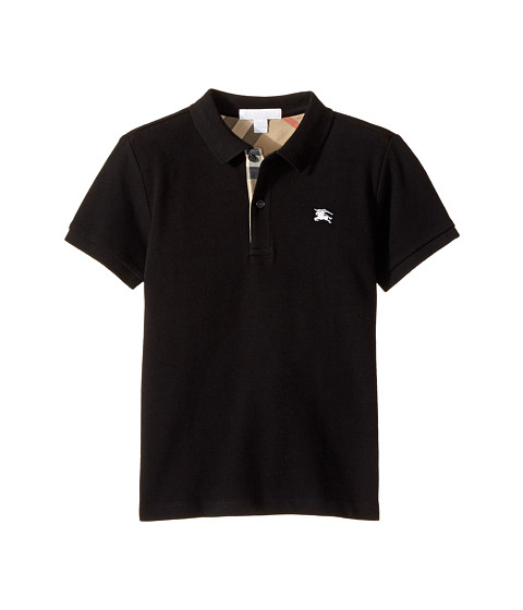 Burberry Kids Short Sleeve Polo Shirt with Check Placket (Little Kids/Big Kids)