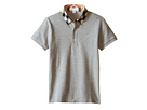 Burberry Kids Short Sleeve Polo Shirt with Check Collar (Little Kids/Big Kids)