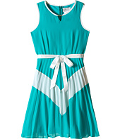 Us Angels - Chiffon Sleeveless Color Block w/ Pleated Skirt (Big Kids)