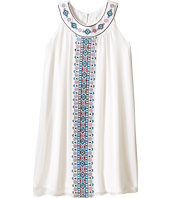 Us Angels - Georgette Sleeveless Ringer Trapeze Dress w/ Embroidery (Big Kids)
