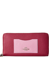 COACH - Color Block Crossgrain Accordion Zip