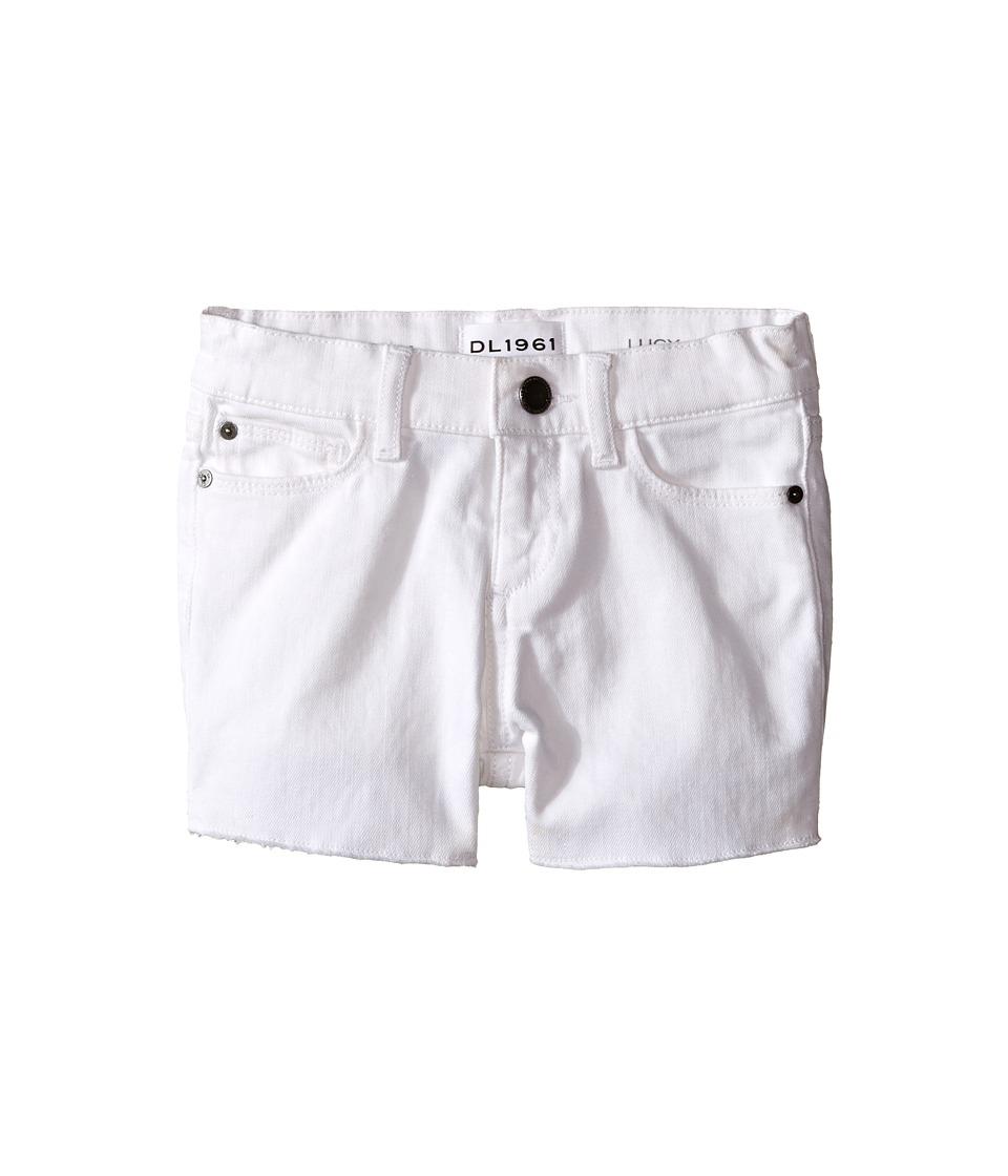 DL1961 Kids - Lucy Cut Off Shorts in Snowcap (Toddler/Little Kids) (Snowcap) Girls Shorts