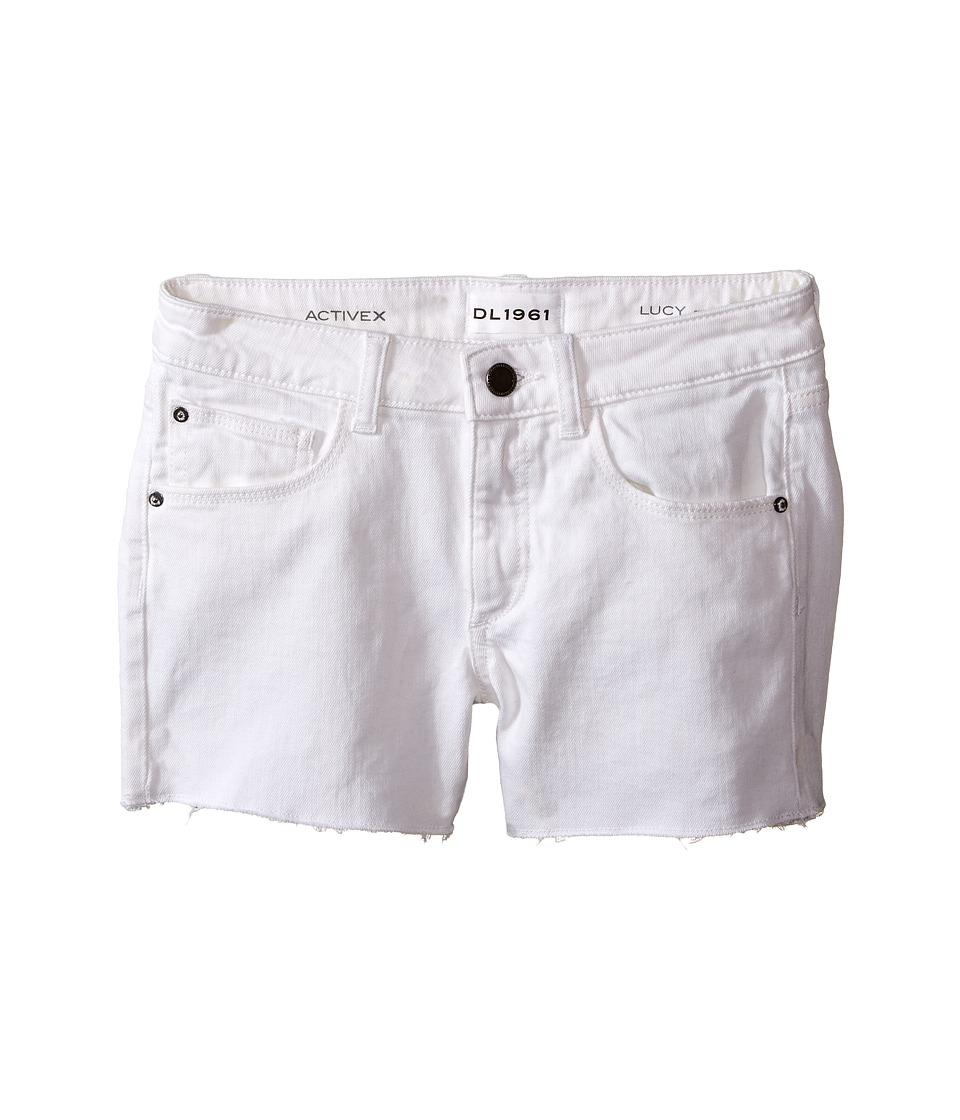 DL1961 Kids - Lucy Cut Off Shorts in Snowcap (Big Kids) (Snowcap) Girls Shorts