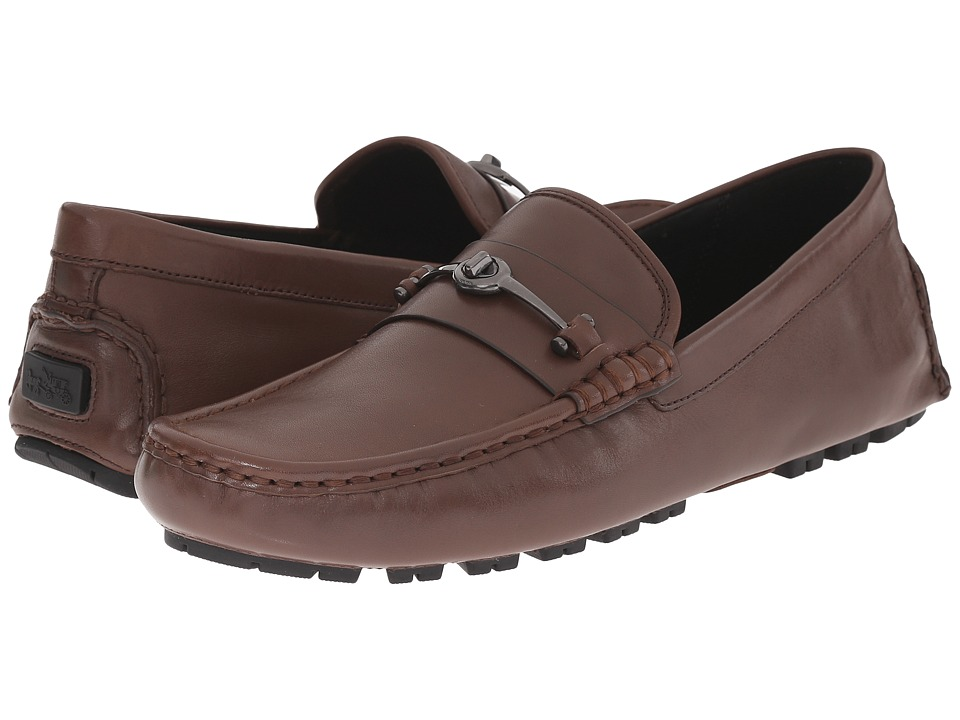 COACH - Crosby Turnlock (Mahogany) Mens Slip-on Dress Shoes