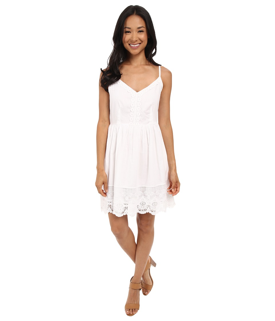 Brigitte Bailey Cara All Over Lace Dress White Womens Dress
