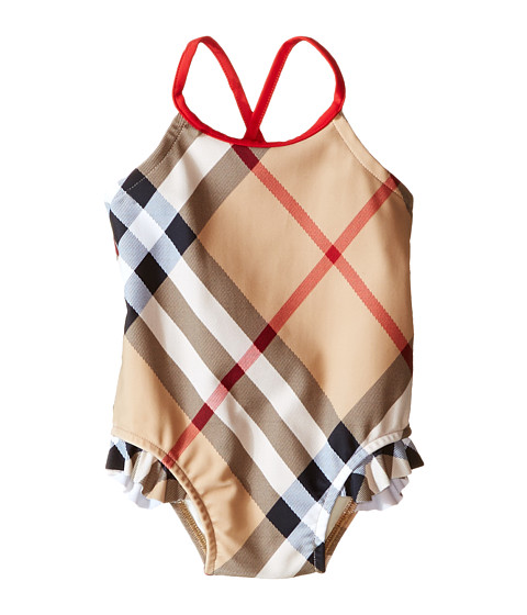 Burberry Kids Check One-Piece with Solid Trim (Infant/Toddler)
