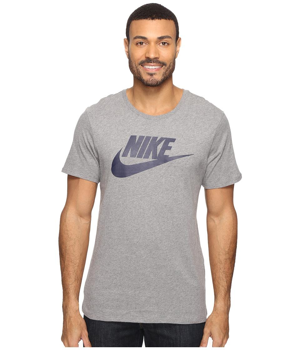 Nike Futura Icon Tee (Carbon Heather/Carbon Heather/Obsidian) Men