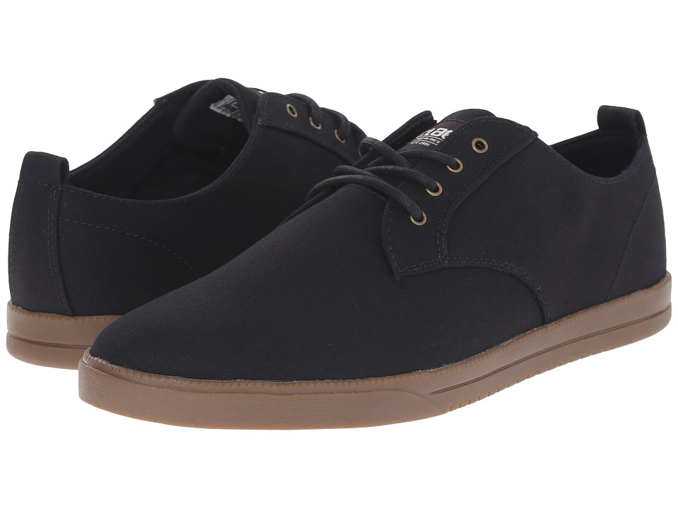 Clae Ellington Textile Black Canvas Dark Gum Mens Shoes