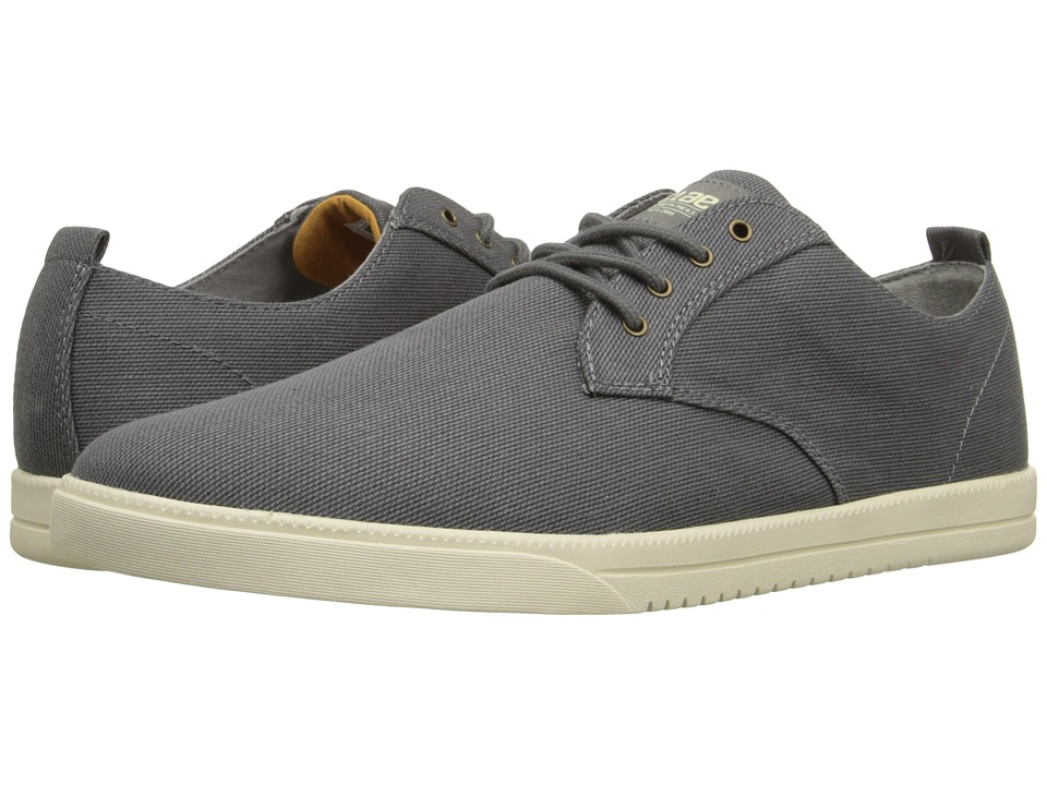 Clae Ellington Textile Charcoal Textured Canvas Mens Shoes