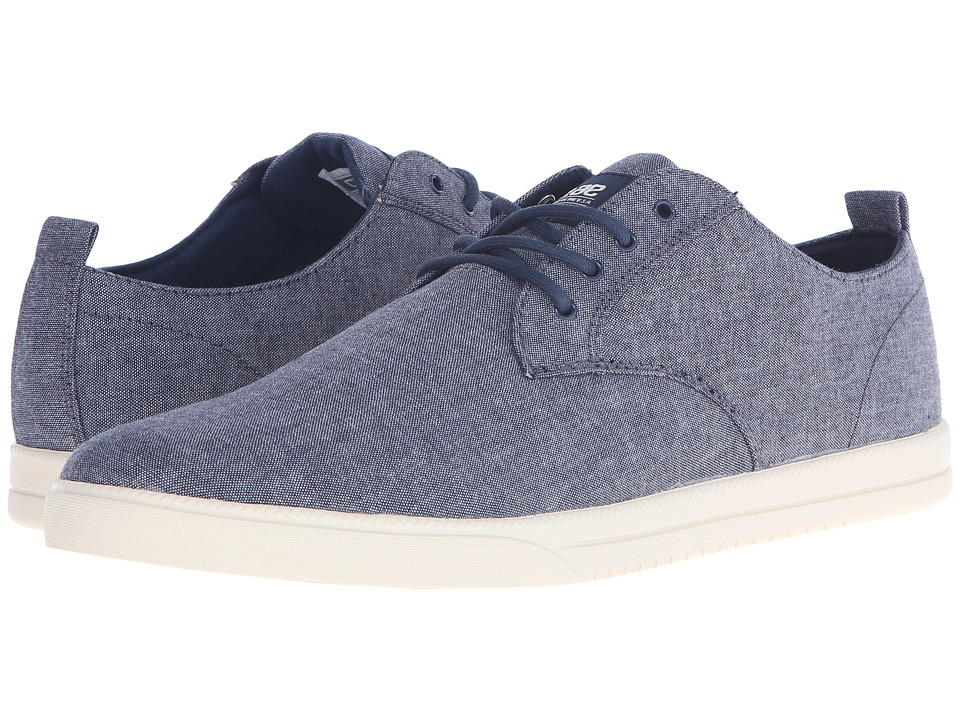 Clae Ellington Textile Navy Chambray Mens Shoes