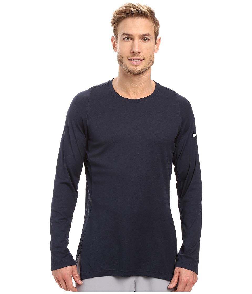 Nike - Crossover 2.0 Long Sleeve Top (Obsidian/Obsidian/White) Men's Sweatshirt