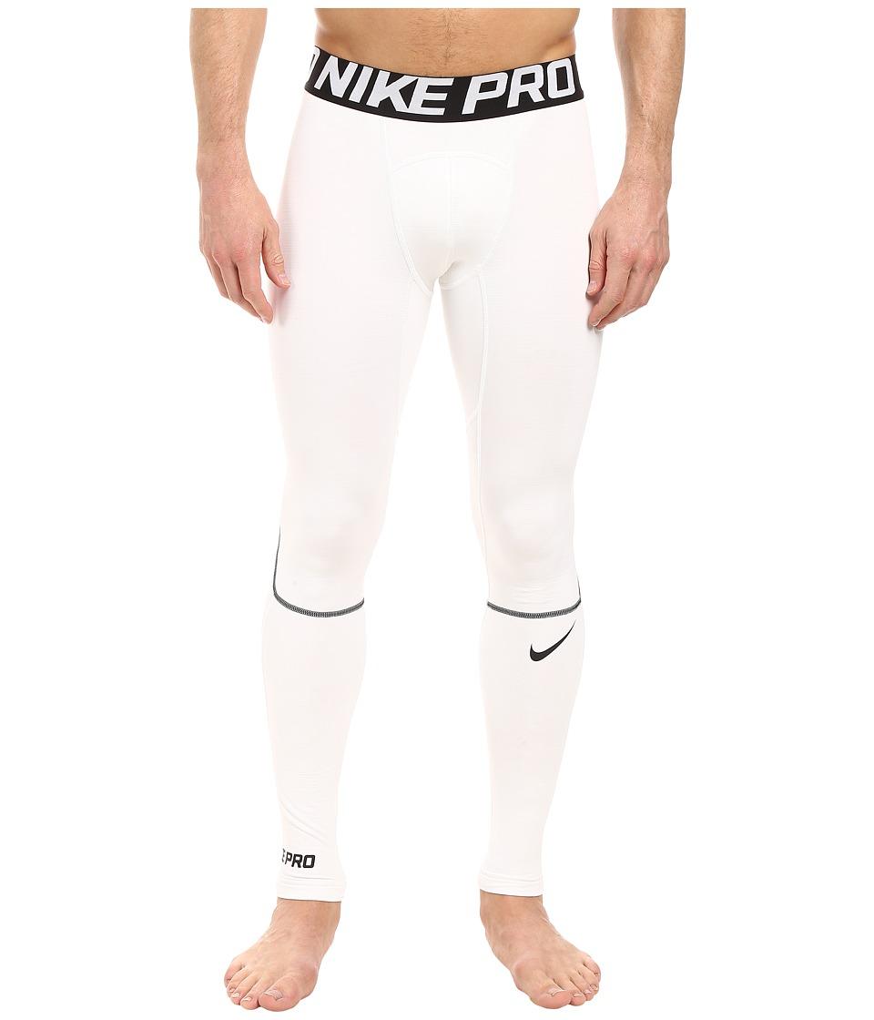 Nike Pro Hyperwarm Training Tight (White/Black/Black) Men