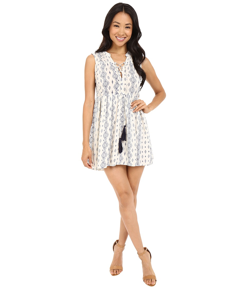 Brigitte Bailey Isata Sleeveless Dress with Tassels Ivory/Navy Womens Dress
