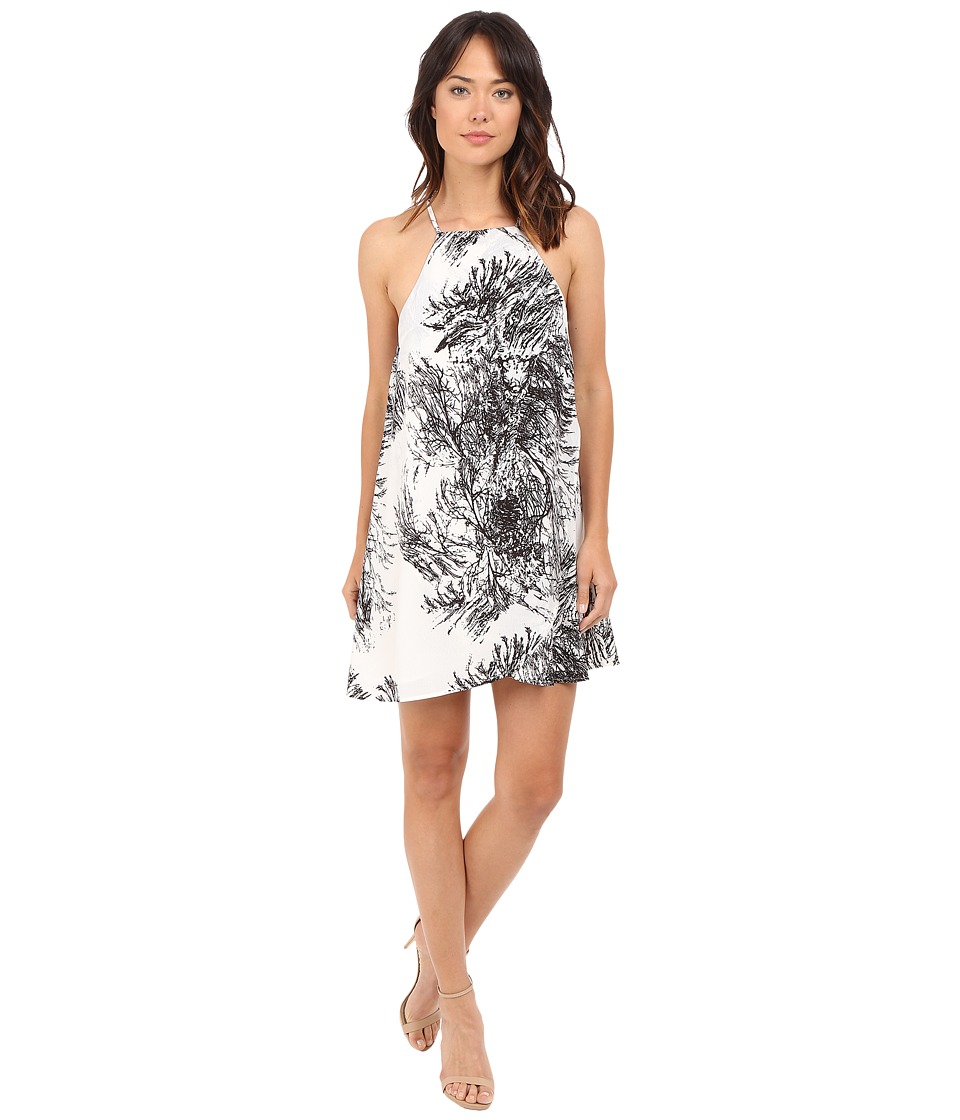 Brigitte Bailey Brinsley Spaghetti Strap Dress (Black/Ivory) Women