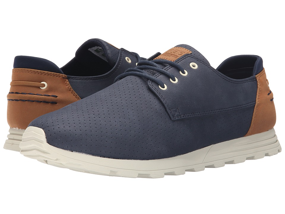 Clae Morgan Navy Synthetic Suede Mens Shoes