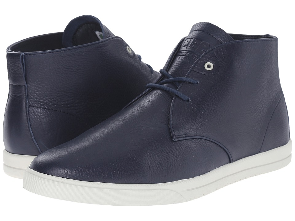 Clae Strayhorn Navy Leather Mens Shoes