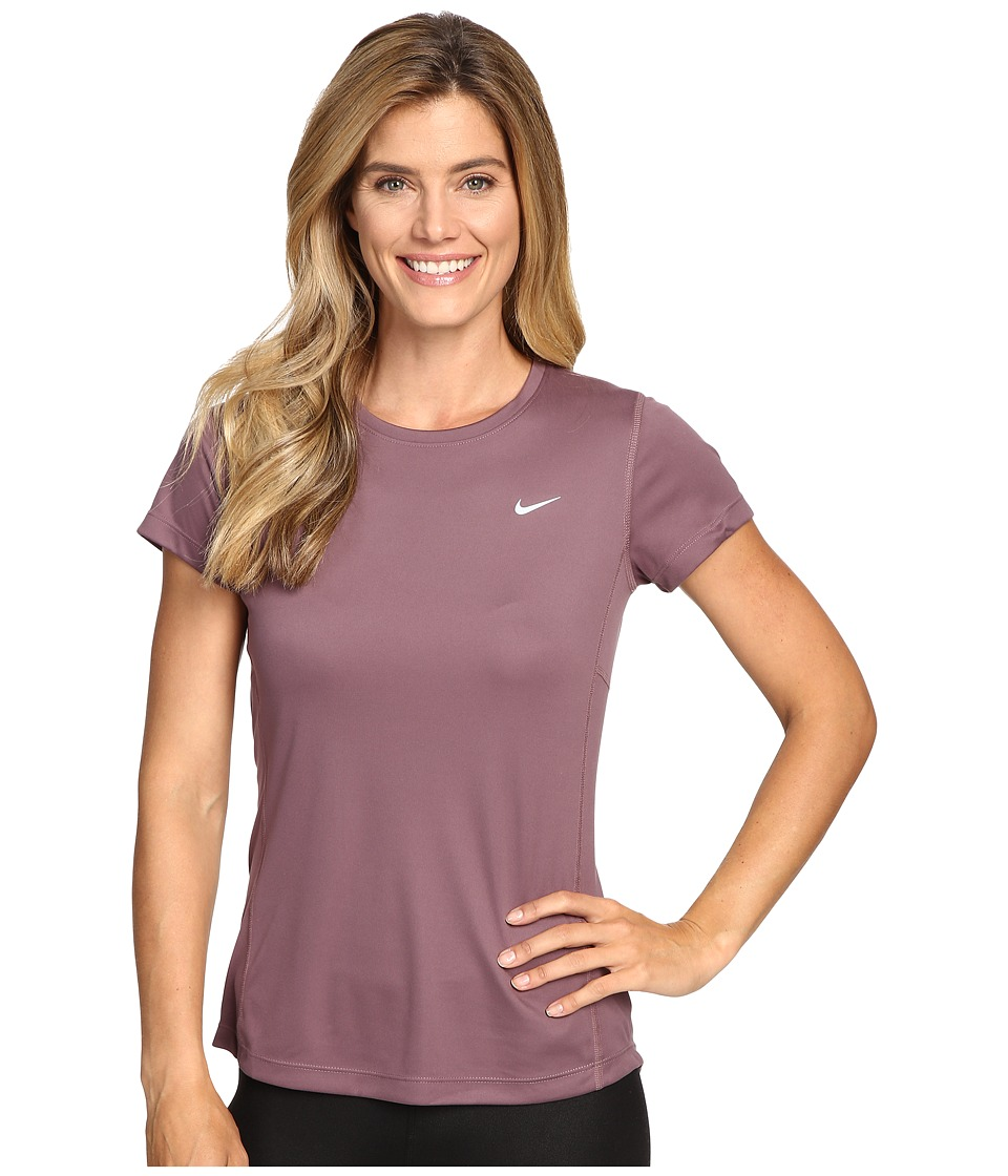 Nike Dri-FIT Miler Short Sleeve Top (Purple Shade/Reflective Silver) Women