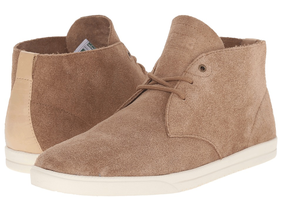 Clae Strayhorn Unlined Mocha Suede Mens Shoes