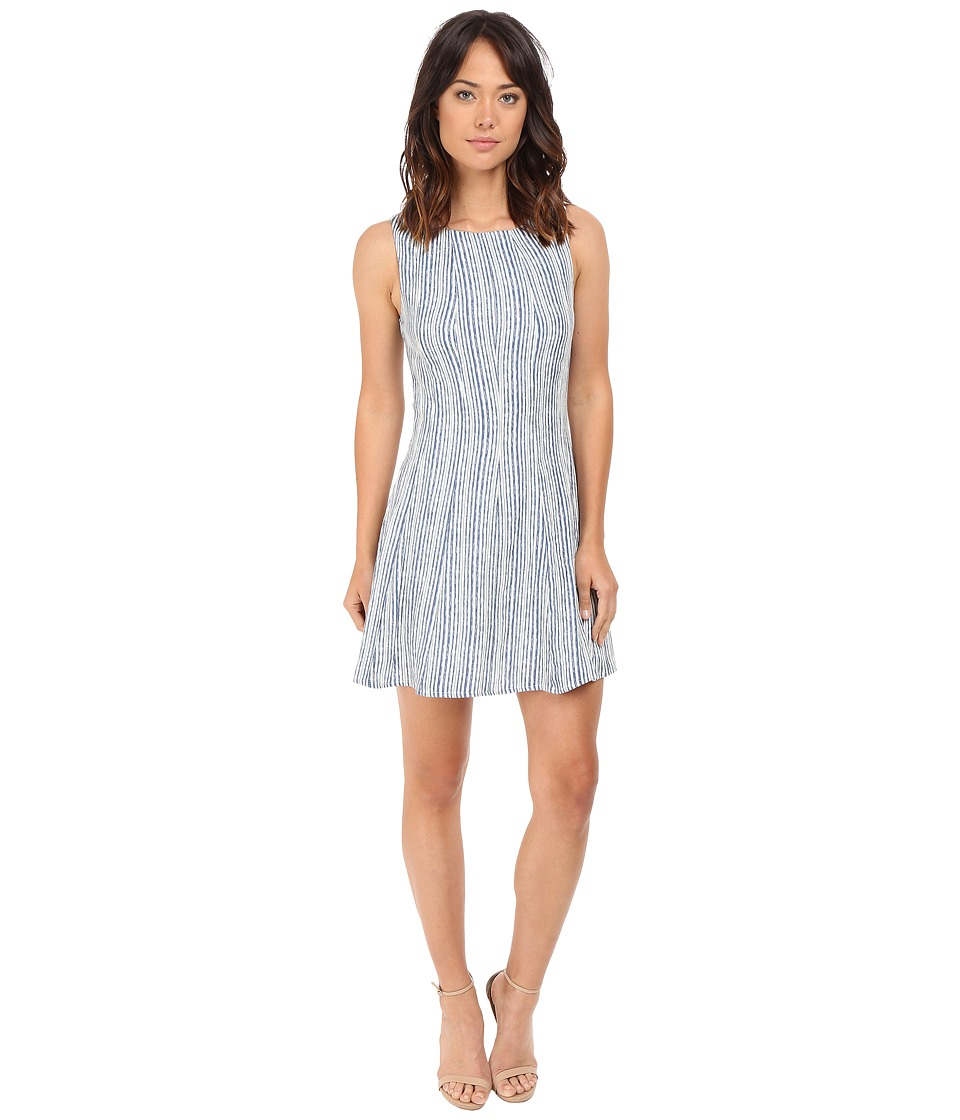 Brigitte Bailey Clover Sleeveless Fit and Flare Dress Blue/Ivory Womens Dress