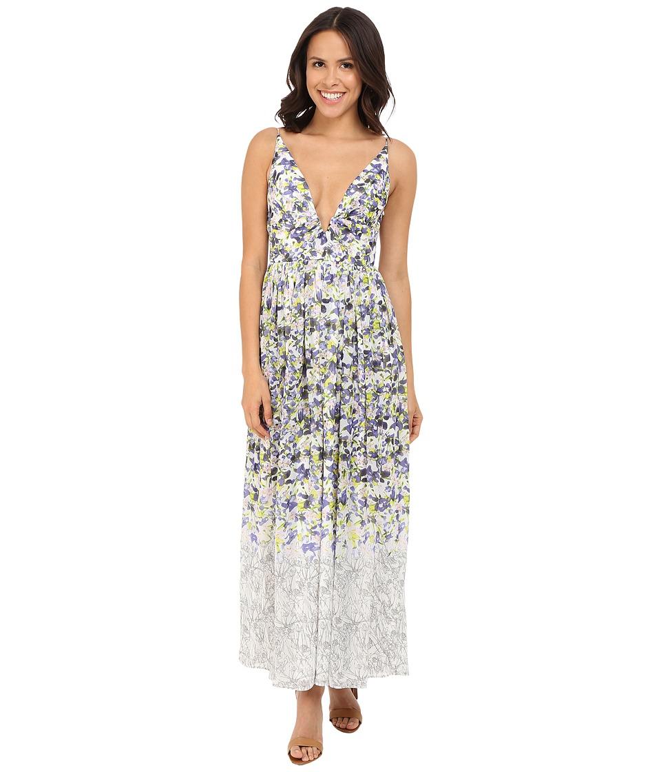 Brigitte Bailey Ailsa Deep V Floral Print Maxi Dress Multi Womens Dress