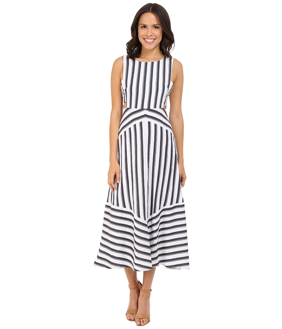 Brigitte Bailey Amalie Striped Dress with Cut Out Sides Navy/White Womens Dress
