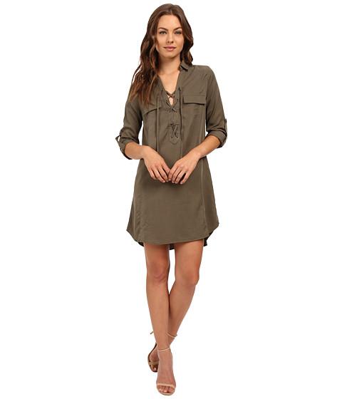 Brigitte Bailey Zoe Long Sleeve Lace-Up Dress