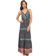 Brigitte Bailey - Merrin Overlap Strappy Maxi Dress with Lace Detail