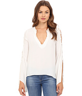 Brigitte Bailey - Philippa V-Neck Long Sleeve Top with Tassels