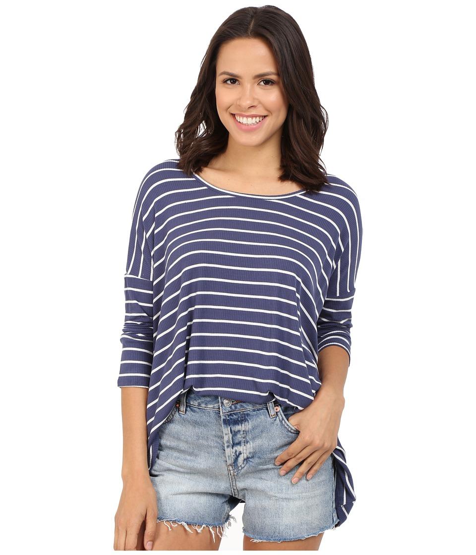 Brigitte Bailey - Tay Ribbed T-Shirt (Blue/Ivory) Women