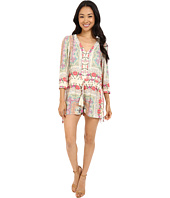Brigitte Bailey - Phoebe Button Up Romper with Waist Tie