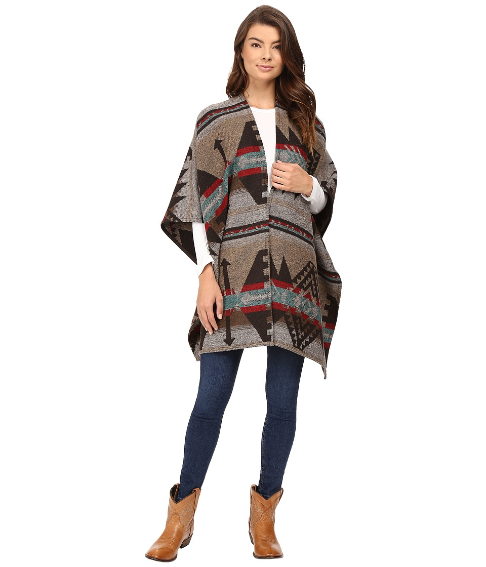 Stetson - Navajo Serape Wrap Cardigan (Brown) Women