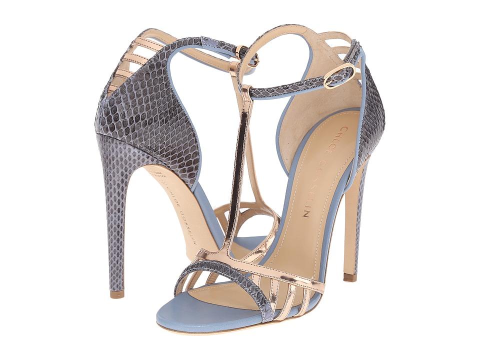 CHLOE GOSSELIN Hyacinth Blue/Rose Gold Womens Dress Sandals
