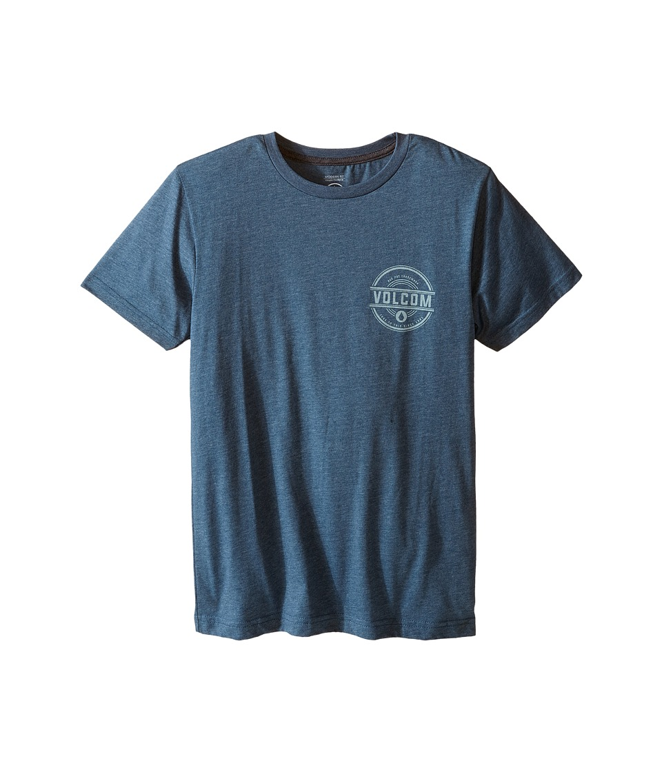 Volcom Kids - Jammer Short Sleeve Tee (Big Kids) (Airforce Blue) Boy