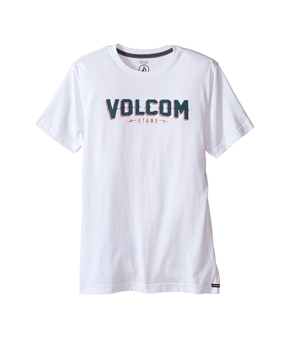 Volcom Kids - Dark Sport Short Sleeve Tee (Big Kids) (White) Boy