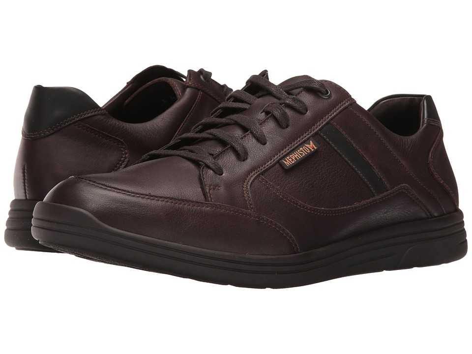 Mephisto - Frank (Dark Brown/Black Polo) Mens Lace up casual Shoes