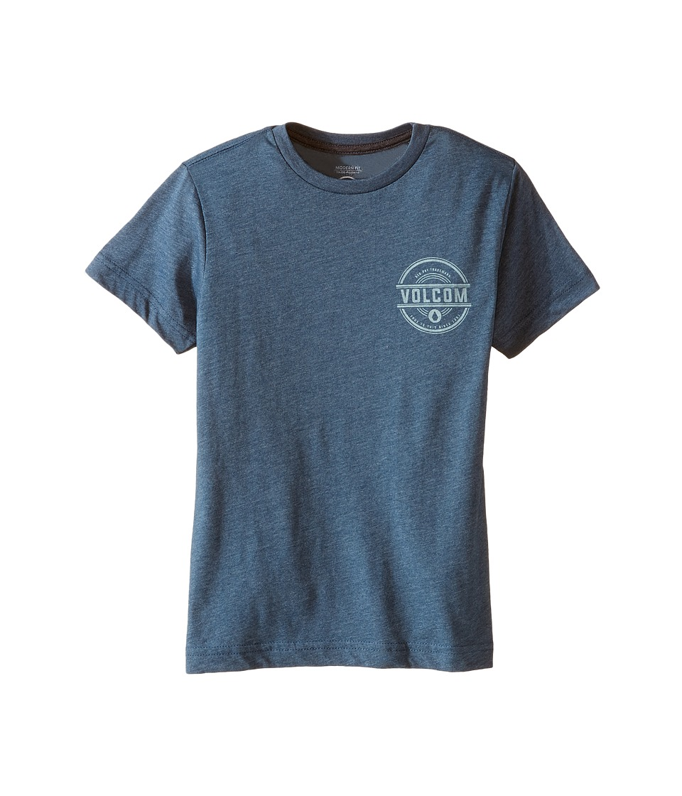 Volcom Kids - Jammer Short Sleeve Tee (Toddler/Little Kids) (Airforce Blue) Boy