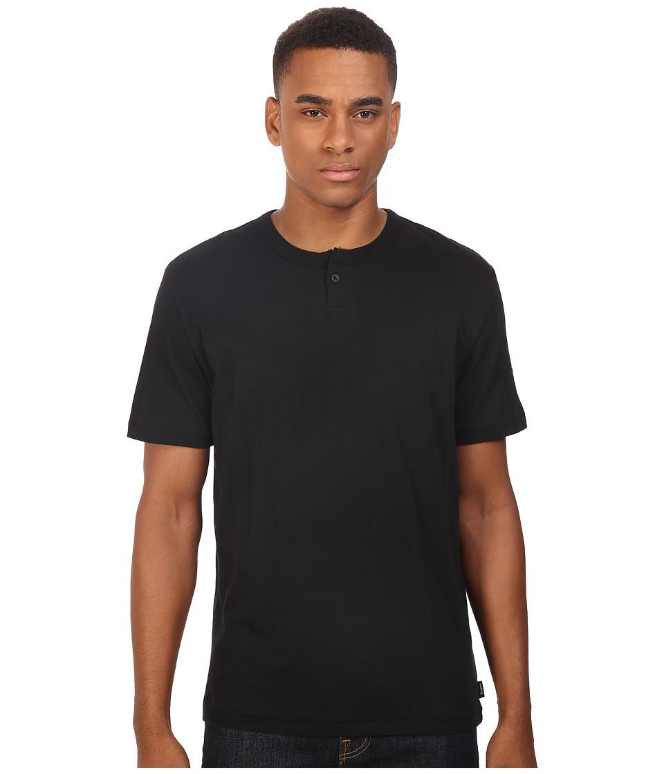 Brixton - Addison Short Sleeve Henley (Black) Men
