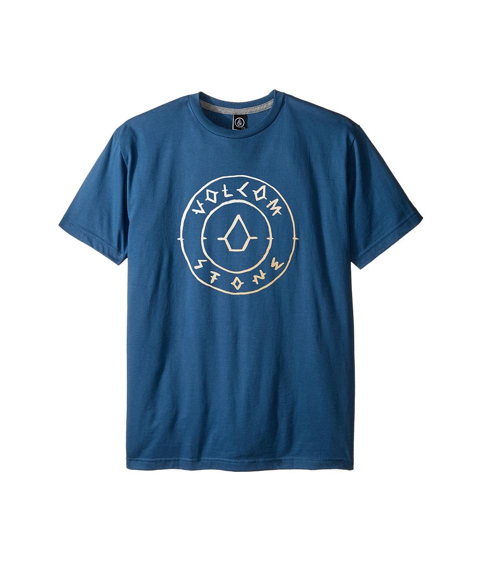 Volcom Kids Scribe Short Sleeve Tee (Big Kids) (Smokey Blue) Boy