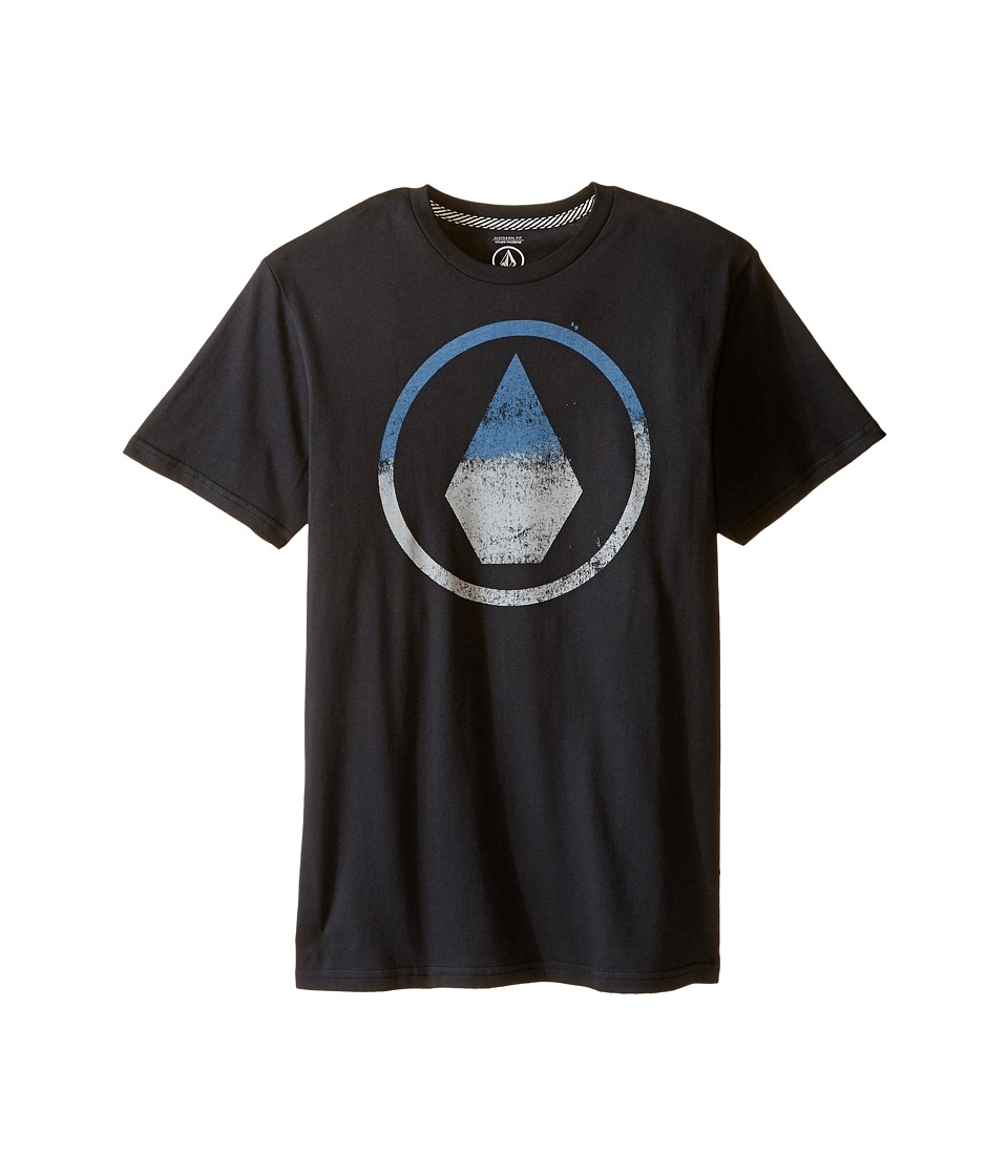 Volcom Kids - Canvas Stone Short Sleeve Tee (Big Kids) (Black) Boy