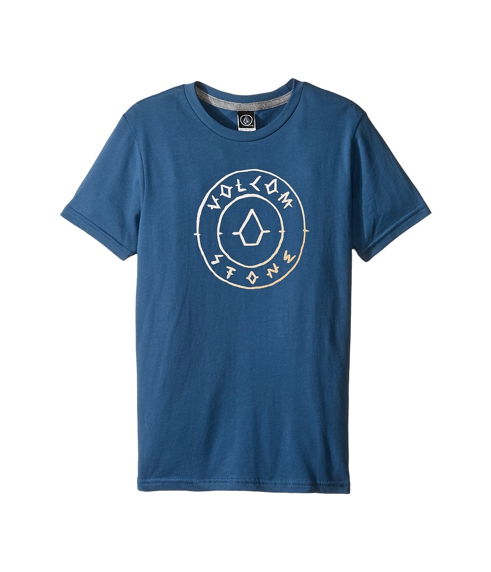 Volcom Kids Scribe Short Sleeve Tee (Toddler/Little Kids) (Smokey Blue) Boy