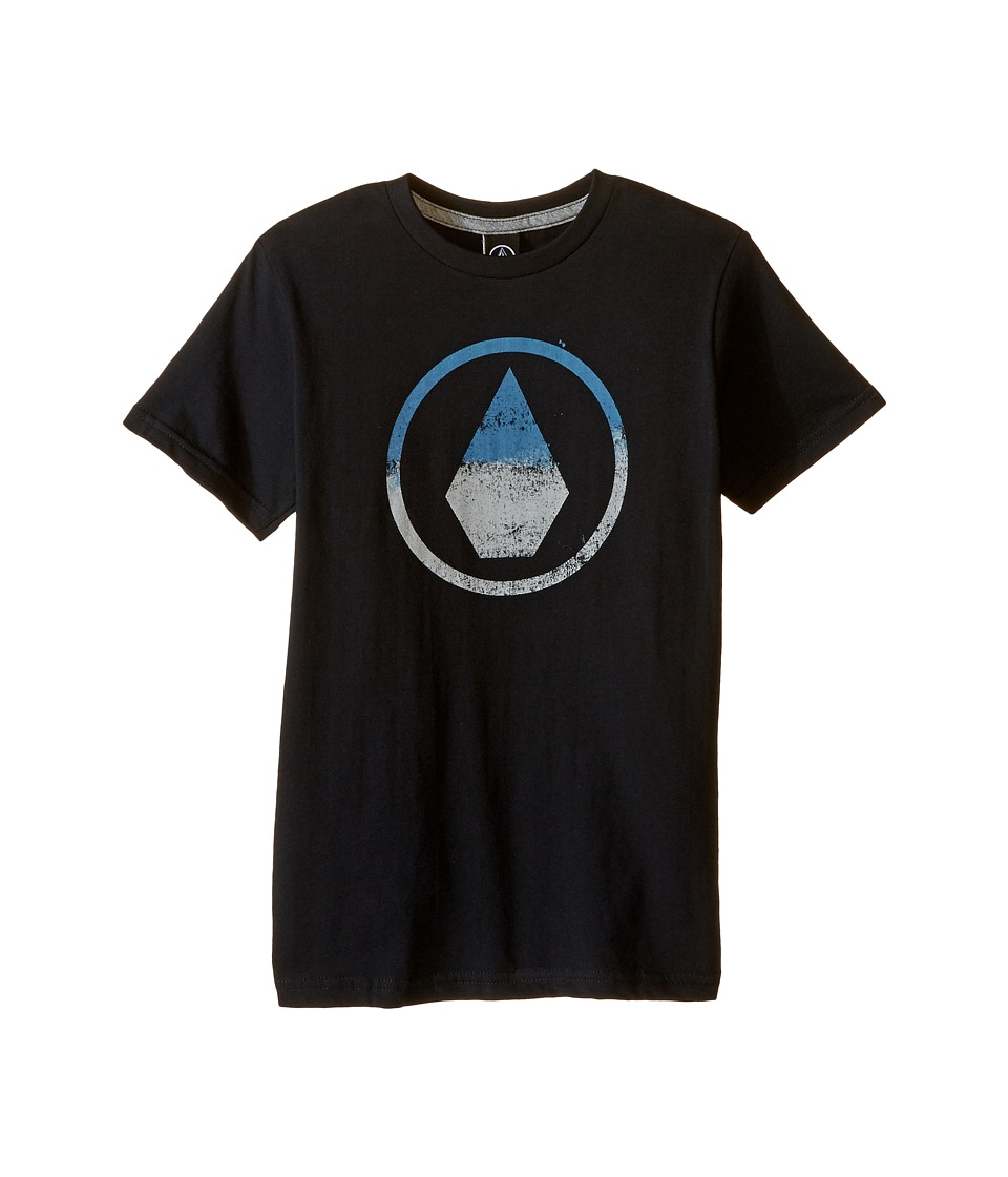 Volcom Kids - Canvas Stone Short Sleeve Tee (Toddler/Little Kids) (Black) Boy