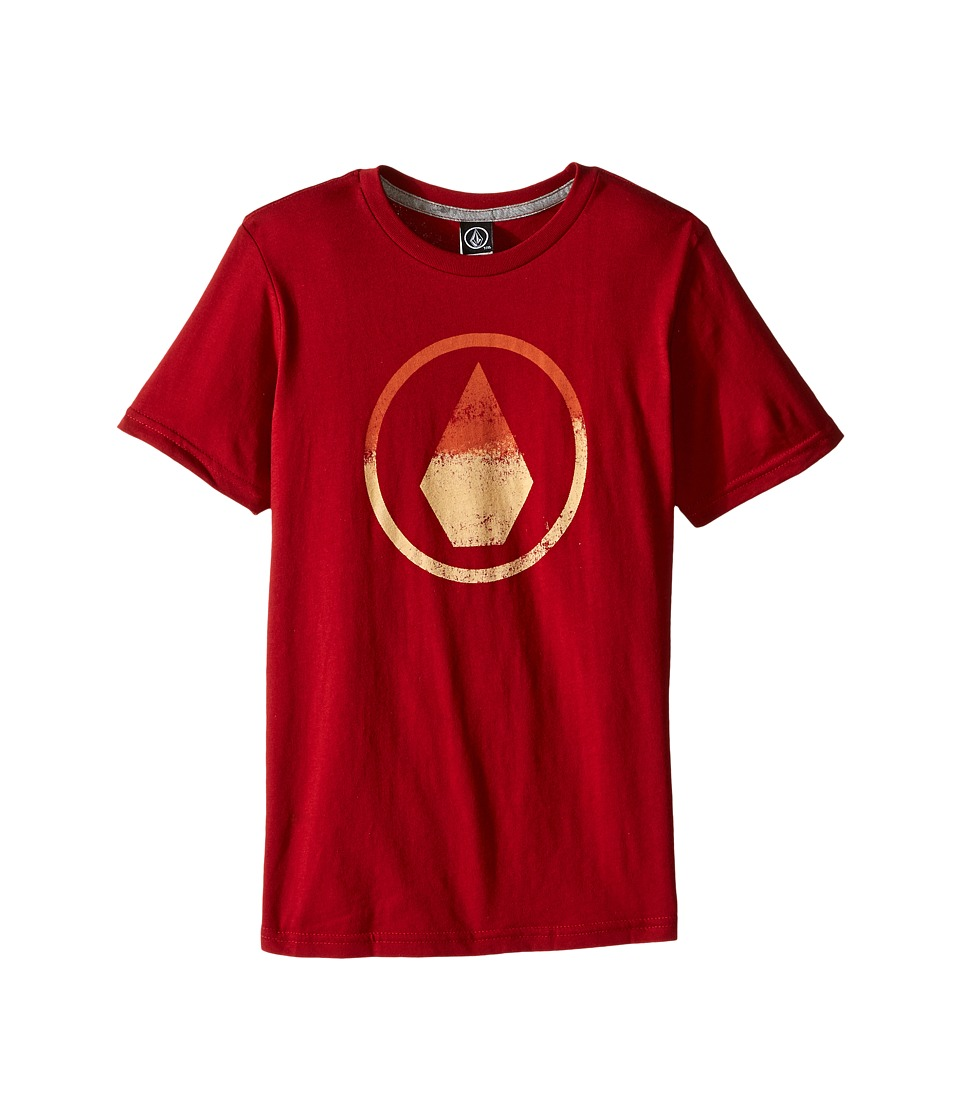 Volcom Kids Canvas Stone Short Sleeve Tee (Toddler/Little Kids) (Deep Red) Boy