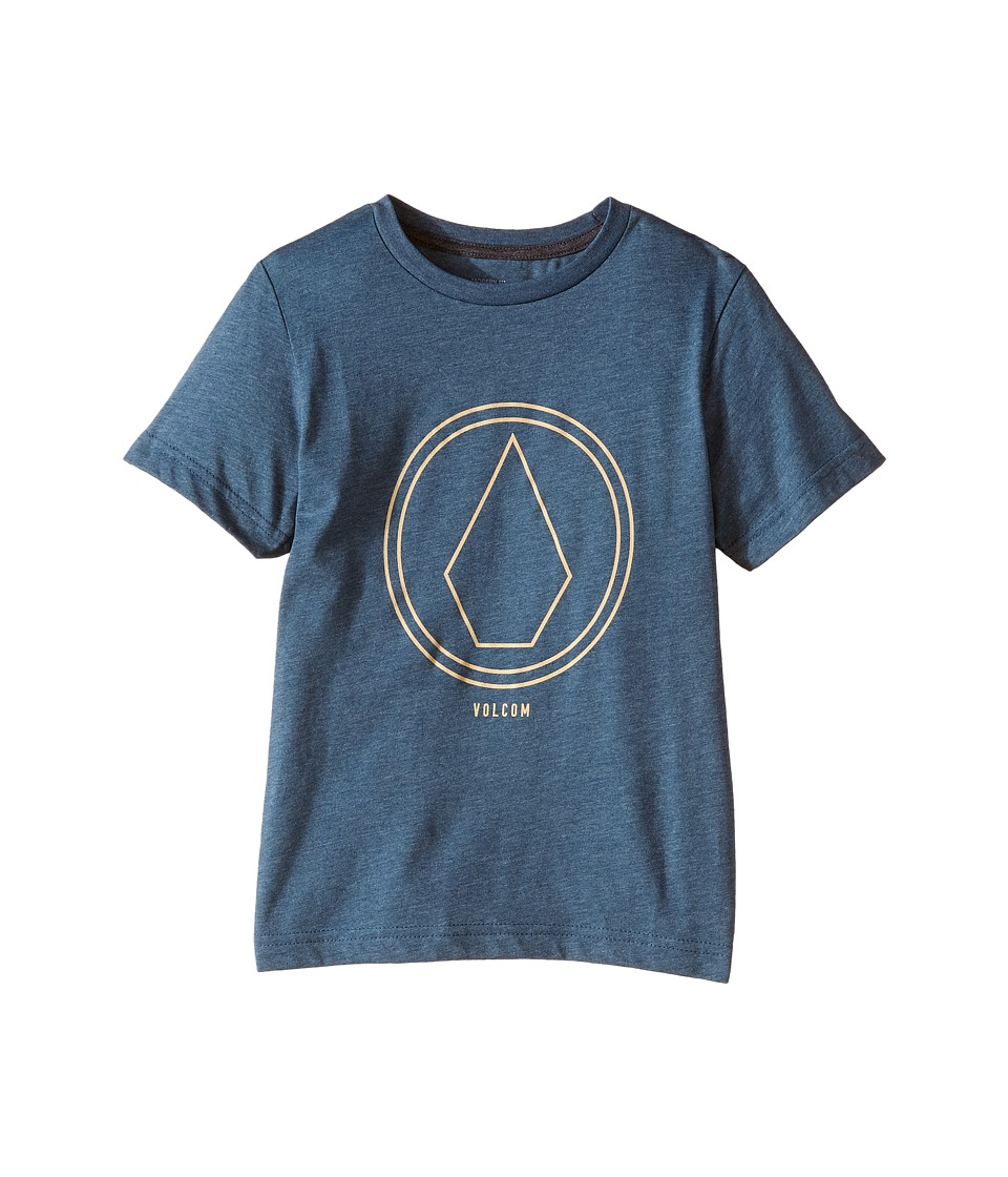 Volcom Kids - Pin Line Stone Short Sleeve Shirt (Big Kids) (Airforce Blue) Boy