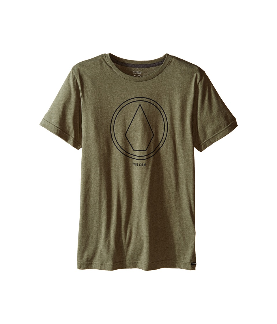Volcom Kids - Pin Line Stone Short Sleeve Shirt (Big Kids) (Vineyard Green Heather) Boy