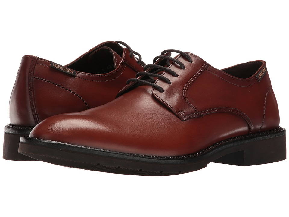 Mephisto - Taylor (Chestnut Supreme) Mens Lace Up Wing Tip Shoes