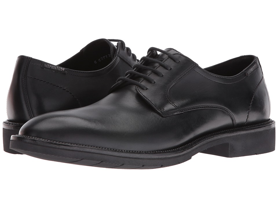 Mephisto - Taylor (Black Supreme) Men's Lace Up Wing Tip Shoes