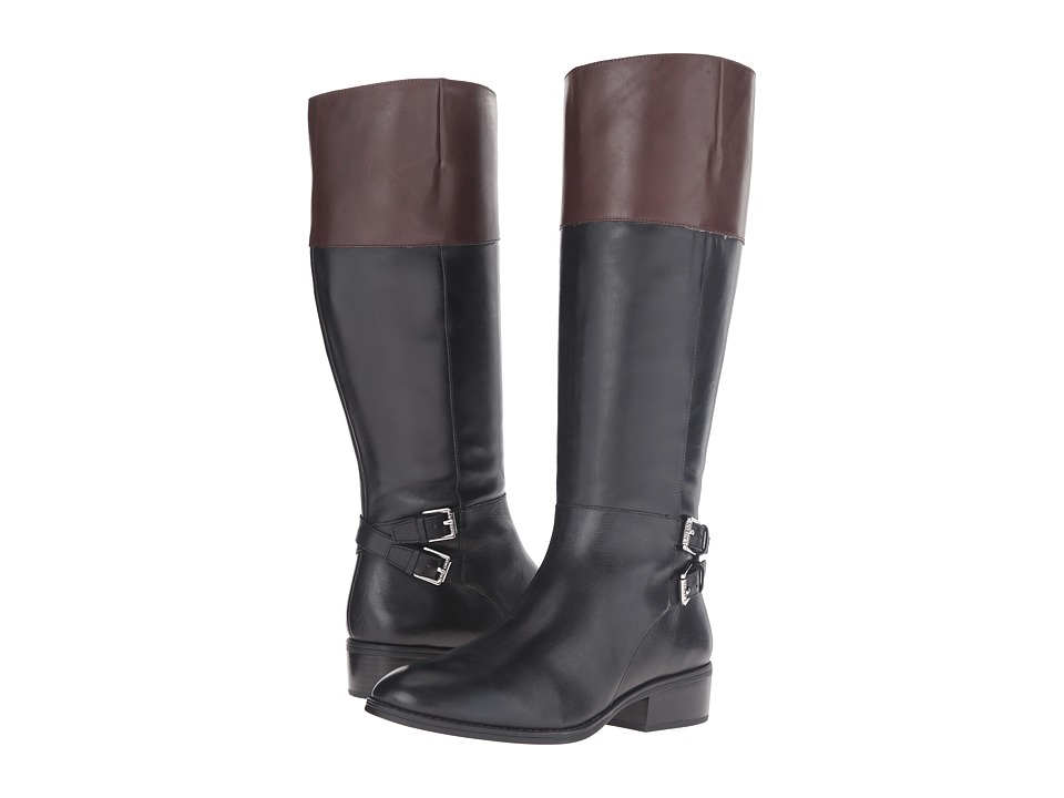 LAUREN Ralph Lauren Marba (Black/Dark Brown Burnished Calf) Women