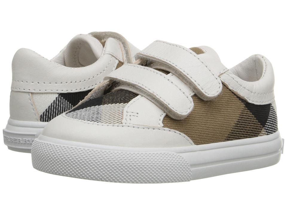 Burberry Kids Mini Heacham (Infant/Toddler) (White) Kid's Shoes